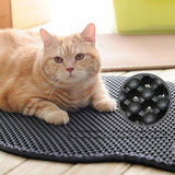 2 Jumbo Size Cat Litter Mats