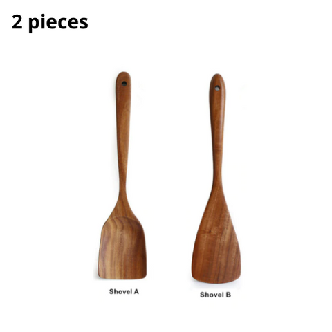 (2 Pack) Wooden Utensils