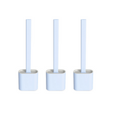 3 Pack- Silicone Head Toilet Brush