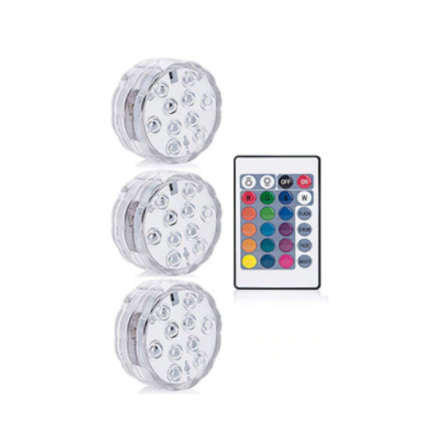 1 Pack: Submersible LED Pool Lights