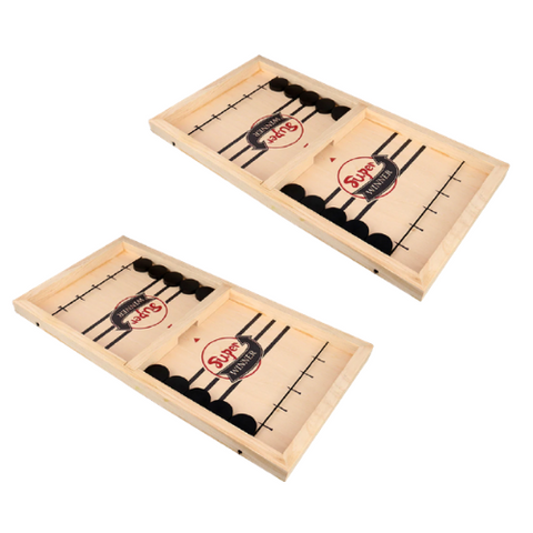 2 Pack- Wooden Hockey Game