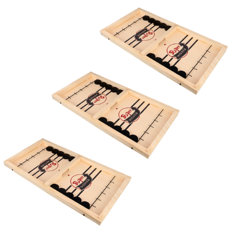 3 Pack- Wooden Hockey Game