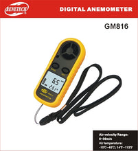 Load image into Gallery viewer, Benetech GM816 handheld anemometer