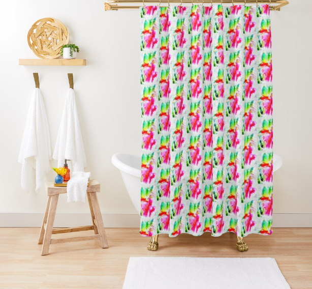 """Beauty of The Earth"" Shower Curtain Lady Barbara Pinson Artist Home Collection"