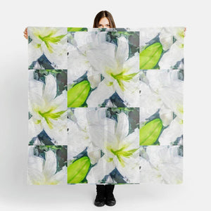 """Bella Lillies"" Chiffon Scarf  by Lady Barbara Pinson Artist"