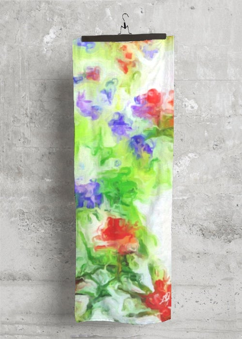 """Early Spring"" Cashmere/Silk Scarf  by Lady Barbara Pinson Artist"