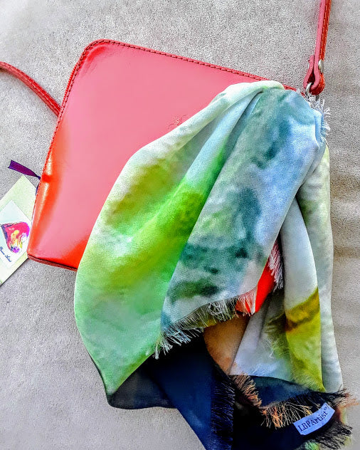 Italian Mini Bag with Mini Scarf by Lady Barbara Pinson Artist