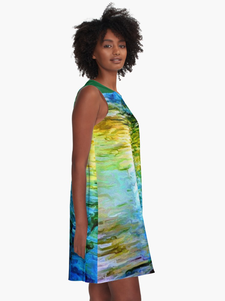 """Water Water 3"" A-line Dress Lady Barbara Pinson Artist"