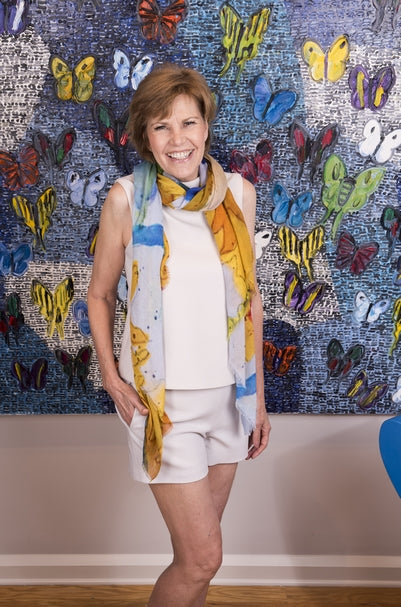 """Phoebe's Play"" Cashmere Silk Scarf by Lady Barbara Pinson"