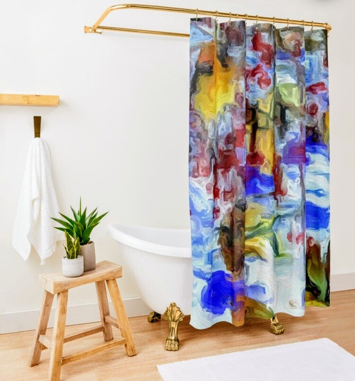 "Shower Curtain"" Winter Wild"" Lady Barbara Pinson Artist Home Collection"