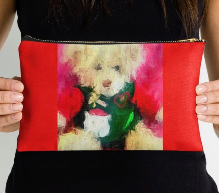 """Christmas Teddy"" Pouchette"