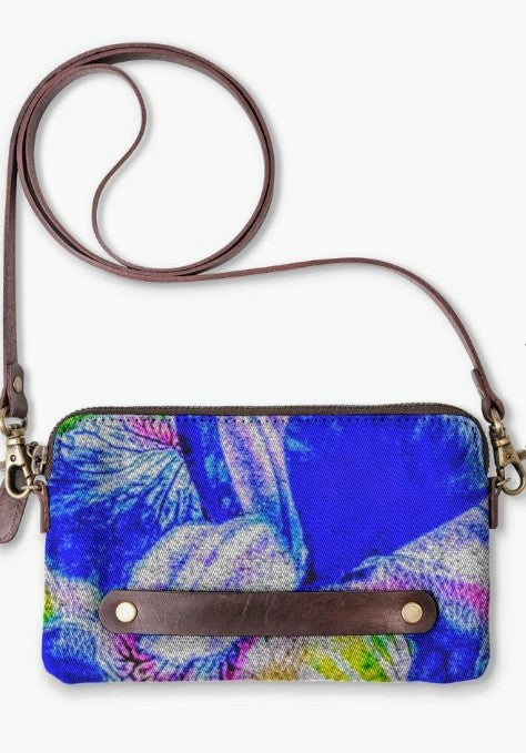"""Blue Iris ""  Clutch Lady Barbara Pinson Artist"
