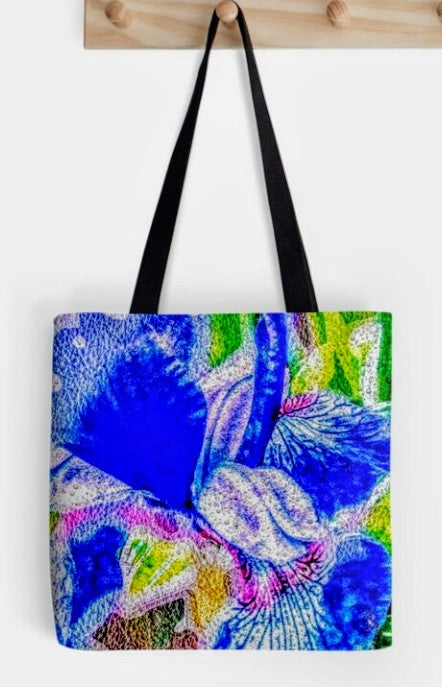"""Blue Iris"" Tote by Lady Barbara Pinson Artist"