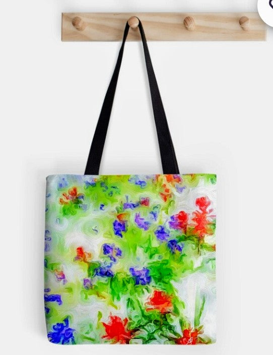 """Early Spring "" Tote by Lady Barbara Pinson Artist"