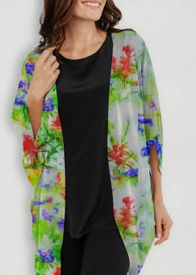 """Early Spring"" Cocoon Wrap by Lady Barbara Pinson Artist"