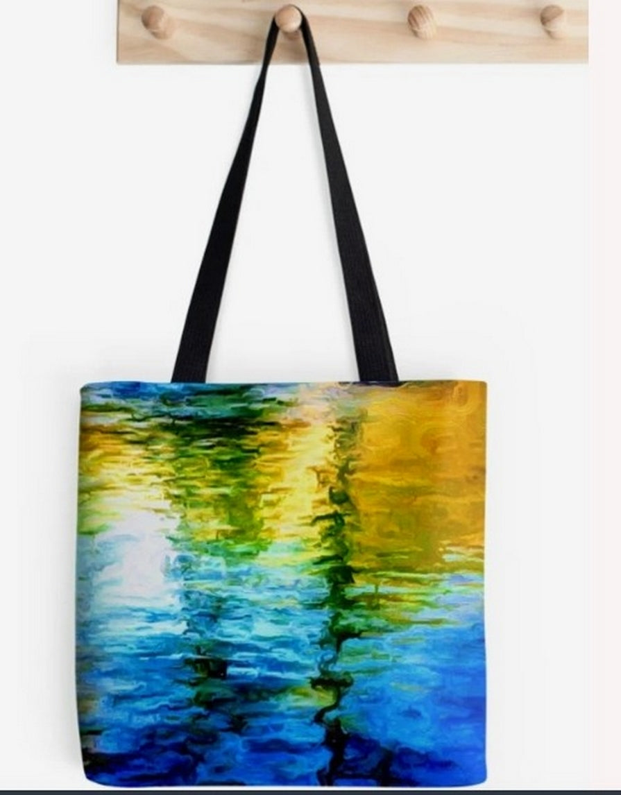 """Water Water 3"" Tote  by Lady Barbara Pinson Artist"