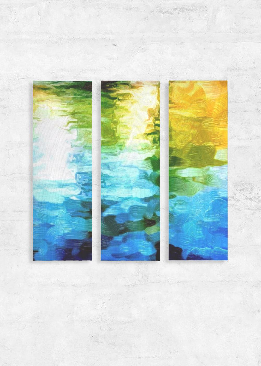 """Water, Water 3"" Wall Art Triptych"