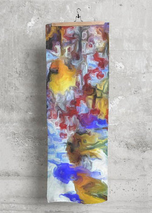 """Winter Wild""  28""x 80"" Botanical Cashmere Scarf by Lady Barbara Pinson Artist"