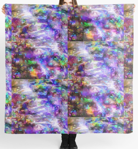 Wondrous World Square Scarf by Lady Barbara Pinson Artist