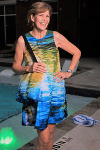 """Water Water 3"" A-line Dress"