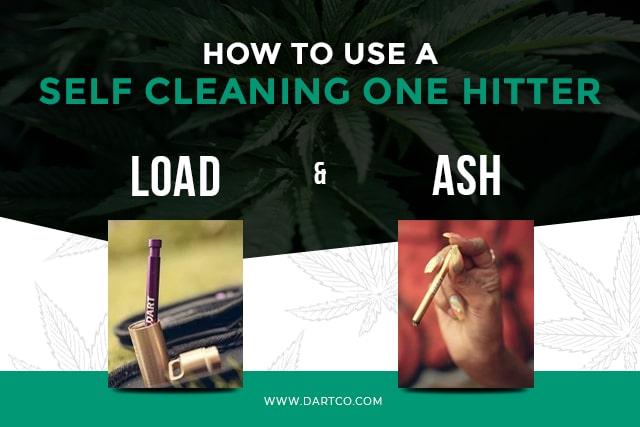how to use a self cleaning one hitter