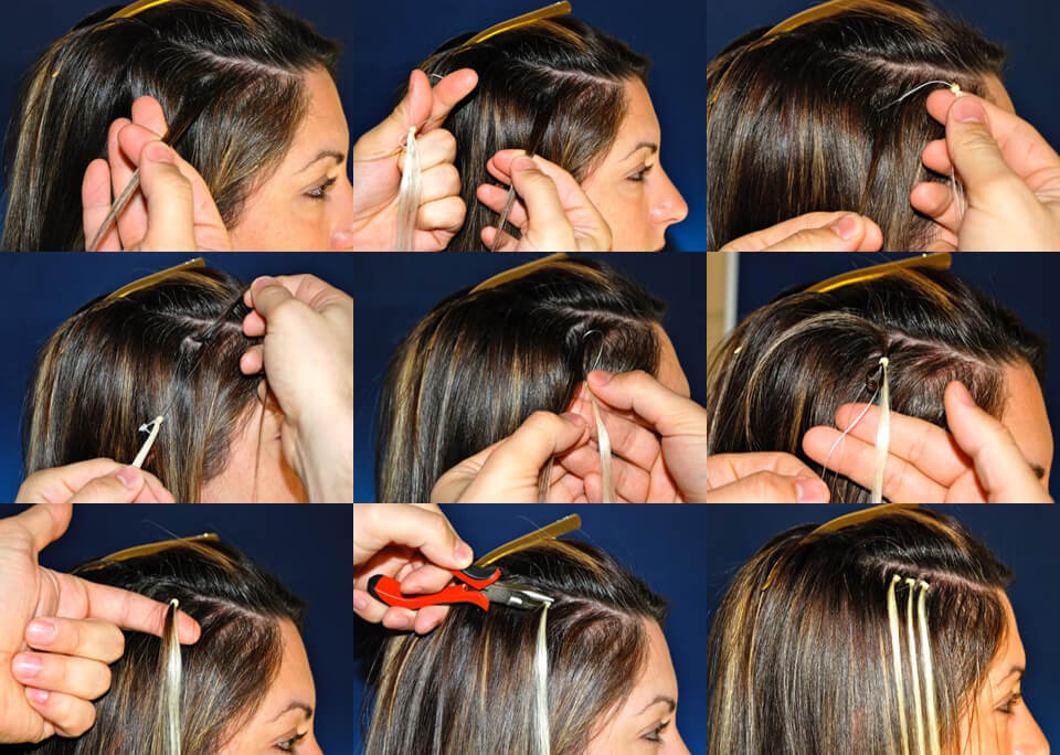 how to apply micro loop hair extensions yourself