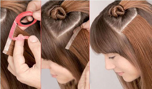 how to put in tape in hair extensions yourself