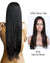 Hairthy Natural Straight brazilian Remy Human Hair Full Lace Wigs-#1B Natural Black