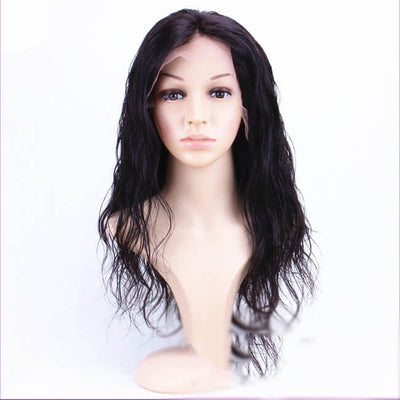Hairthy Brazilian Virgin Hair Wavy Glueless Lace Front Human Hair Wigs For African American front