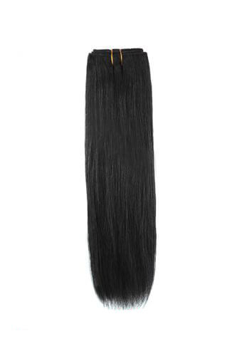 Hairthy #1 Jet Black Straight Weave 100% Remy Hair Weft Hair Extensions