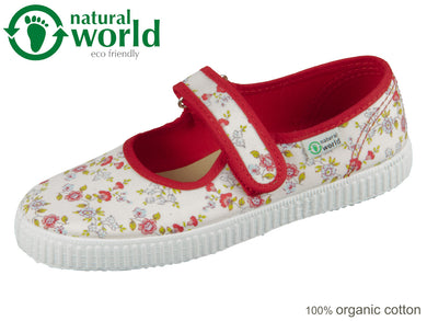 natural world W56027-02 rojo organic cotton