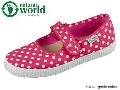 natural world W56088-12 fuchsia organic cotton