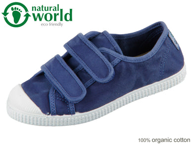 natural world 78777-84 azul oscur organic cotton