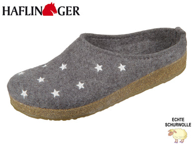 Haflinger Grizzly Stelline 741032-4 anthrazit Wolle
