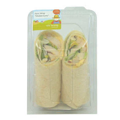 city farming Farm Wrap Chicken-Curry Lebensmittel