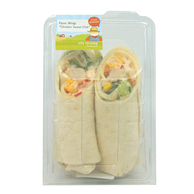 city farming Farm Wrap Chicken Sweet Chili Lebensmittel