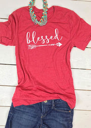 Blessed Arrow Printed Short Sleeve T-Shirt