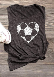 Heart Football O-Neck Tank