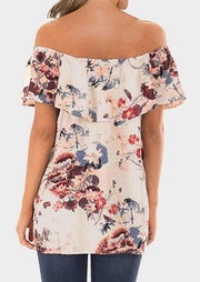 Floral Layered Off Shoulder Blouse
