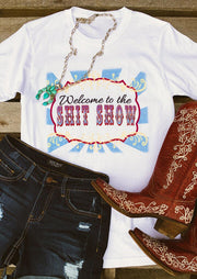 Welcome To the Shit Show T-Shirt Tee without Necklace - White