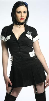 STOCK OFF LIP SERVICE cop mini dress Another Way of Life