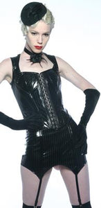 Girdle Pinstripe Garter Suspender Vinyl - Another Way of Life
