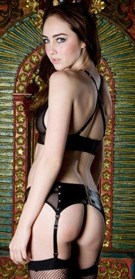 STOCK OFF LIP SERVICE Garter Belt with Zipper Back Another Way of Life