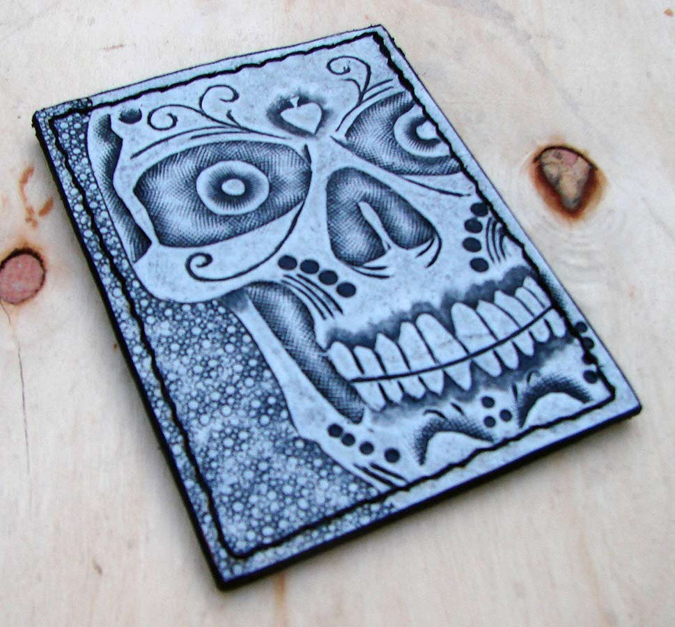 white skull card holder Another Way of Life
