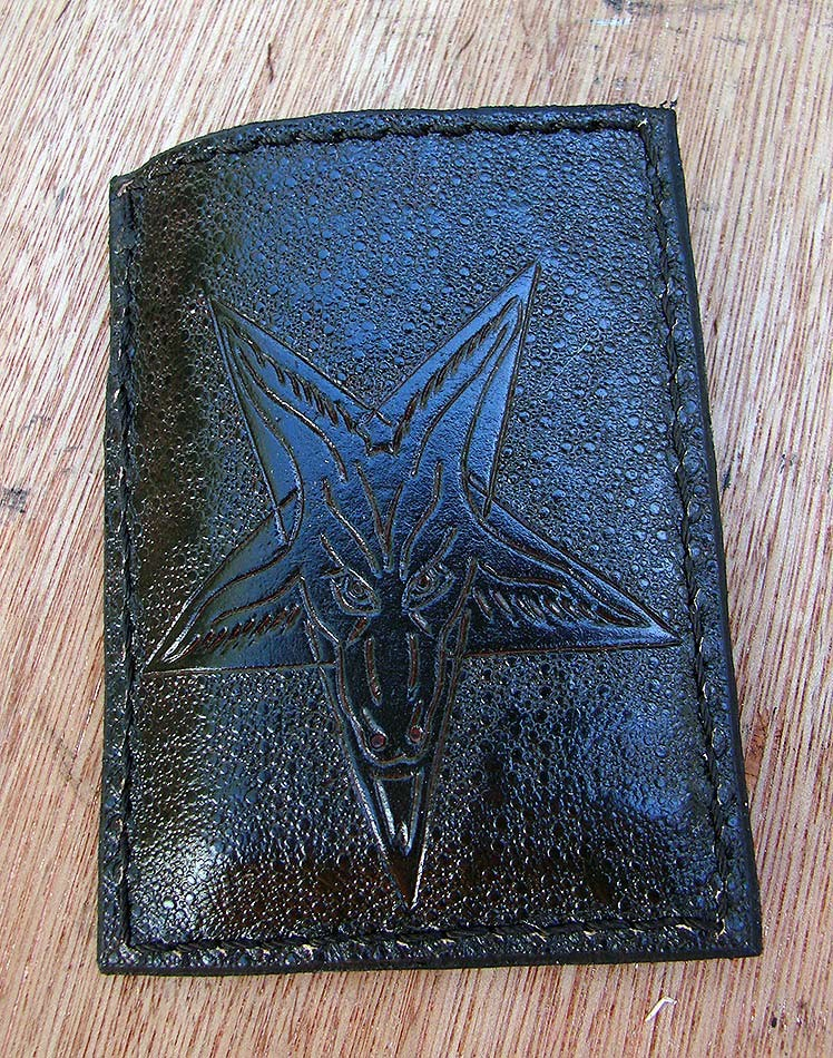 Pentagram with the baphomet card holder by Another Way of LifeAnother Way of Life