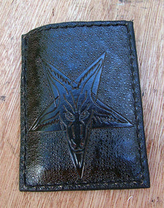 Pentagram with the baphomet card holder Another Way of Life