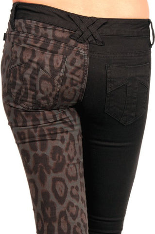 Tripp NYC Split Leg Jeans Leopard Print Another Way of Life