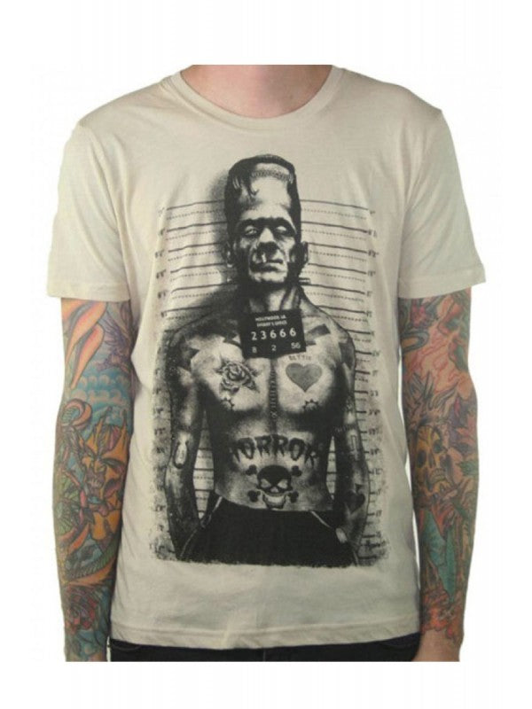 Men's White T-Shirt Tattooed Monster Another Way of Life