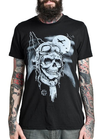 Men's Black T-Shirt Dead Pilot - Another Way of Life