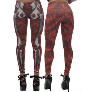 Kreepsville Slime Skele-Bones Leggings red Another Way of Life